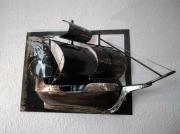 sculpture marine sculpture metal tableau bateau : Scupture LyChar tableau 3D métal bateau galion