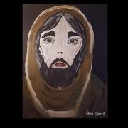 tableau personnages jesus visage religieux : Jésus