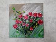 tableau fleurs : Au non de la rose