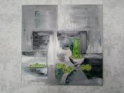tableau nature morte : Vert et gris