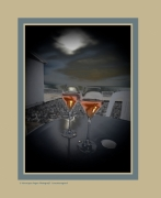 art numerique scene de genre duo crepuscule en tete ,a tete ,a deux : Duo crépusculaire