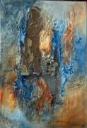 tableau abstrait : PLEURS D'ECORCE