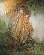 tableau abstrait : ARBRES AU FEMININ