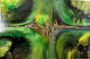 tableau abstrait : CROISEMENT