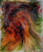 tableau abstrait : COULEE DE LAVE