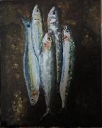 tableau nature morte : Sardines