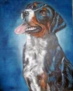 tableau animaux chien chasse au repos : Chien de chasse
