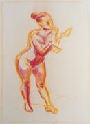 dessin nus feminin nu modele etude : modèle vivant