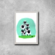 tableau animaux mouton famille enfant animal : Hypnose Sociale