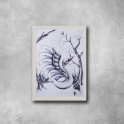 tableau animaux cygne signe stylo lac : Un Signe