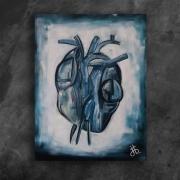 tableau autres coeur bleu glace froid : le coeur