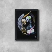 tableau personnages squelette mort couple vie : Quetal