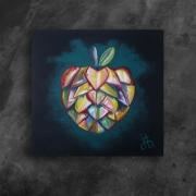 tableau fruits pomme peche eve adam : La pomme