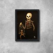 tableau personnages squelette pentin mort marionette : La manipulation