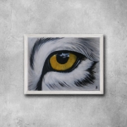 tableau animaux loup oeil yeux animal : Oeil
