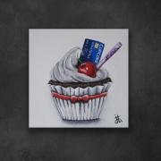 tableau autres cake gateau drugs blanc : CupCoke