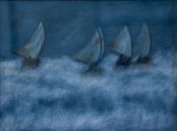 bateaux dans la tempête
