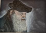 tableau personnages portrait homme vieux clair obscur : vieil homme chasseur de souris