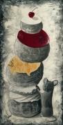 tableau animaux animaux peinture acrylique resine : Le mont cerise