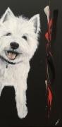 tableau animaux animaux chien acrylique peinture : Junior