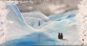 tableau paysages nature animaux peinture acrylique : Le géant argentin