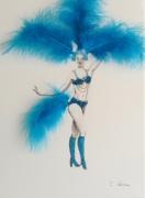 tableau personnages carnaval danse plume rio : Carnaval