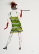 tableau personnages danse charleston 30 robe : Charleston
