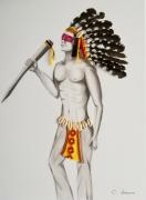 tableau personnages indien native amerique homme : Indien