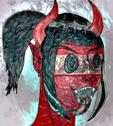dessin personnages enfer femme rire vice : Hellrit