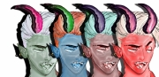 art numerique personnages personnalite demon vice art : schizophrenia