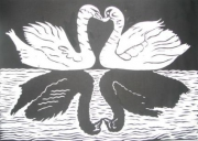 painting animaux : swans