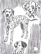 painting animaux : dogs