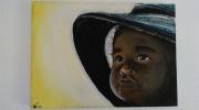 tableau personnages enfant cameroun : Le regard d'un enfant
