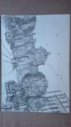 dessin architecture madrid alcala dessin crayon : Puerta de Alcala (Madrid)