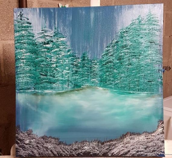 TABLEAU PEINTURE Paysages Peinture a l'huile  - Cristal