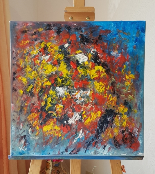 TABLEAU PEINTURE Abstrait Peinture a l'huile  - Sauvage, déchrirée