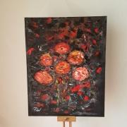 tableau fleurs : Rencontre d'un petit bouquet