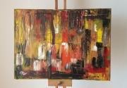 tableau abstrait : Intemporelle de la nuit