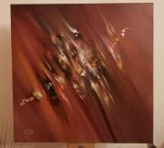 tableau abstrait : Fusion d'un équilibre