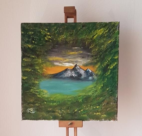 TABLEAU PEINTURE Paysages Peinture a l'huile  - Un aperçu !