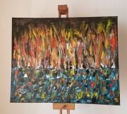 tableau abstrait : Maasaï