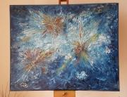 tableau abstrait : Galaxies Effervescentes