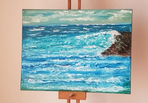 TABLEAU PEINTURE Paysages Peinture a l'huile  - Déchaînées et cassées