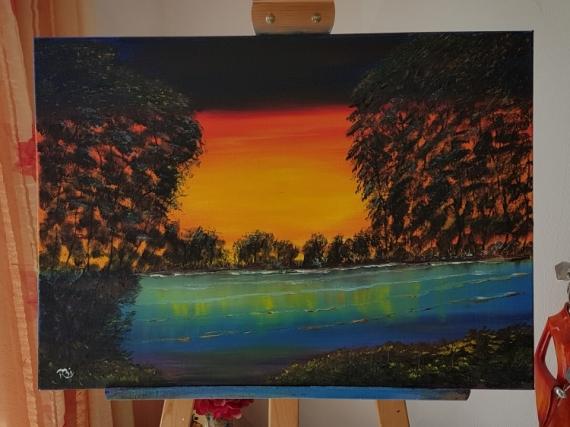 TABLEAU PEINTURE Paysages Peinture a l'huile  - Reflet