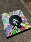 tableau personnages popart streetart portrait : VOODOO CHILD