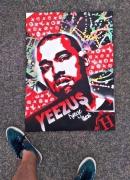 tableau personnages rap streetart kanye west : YEEZUS