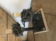 artisanat dart autres lampe industrielle vintage mecanique : Lampe industrielle carbu