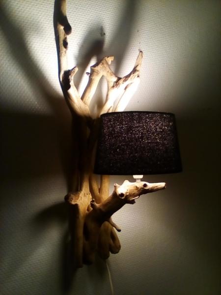 BOIS, MARQUETERIE  - applique bois flotté