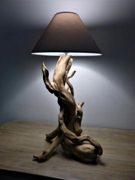 BOIS, MARQUETERIE lampe en bois  - lampe bois flotté