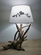 marquetry autres : lampe bois flotté